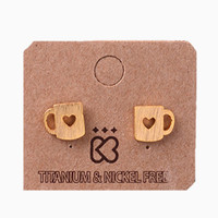 Tea Time Gold Stud Earrings | Bloody-Fabulous