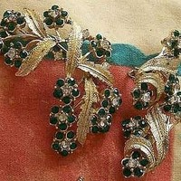 3 piece Coro austrian crystal demi parure wonderfully kept as part of a collection