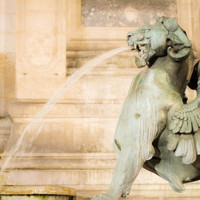 Paris France St MIchel Fountain Fine Art Photography Print
