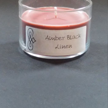Amber Black Linen 4oz Scented Candle by Sweet Amenity Fragrances