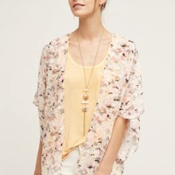 Canyon Clouds Kimono by Anthropologie in Neutral Size: One Size Tops