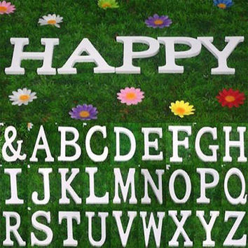 Large 26 Wooden Alphabet Letters/ Wall Hanging/ Nursery Decor/ Alphabet Wall L 1