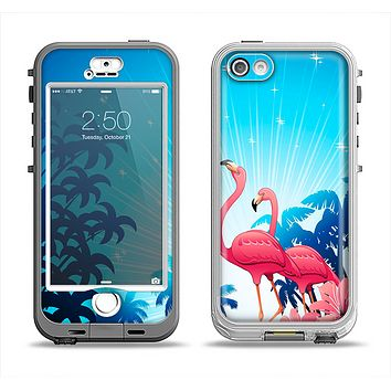 The Vibrant Pelican Scenery Apple iPhone 5-5s LifeProof Nuud Case Skin Set