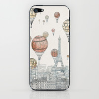 Voyages Over Paris iPhone & iPod Skin by David Fleck
