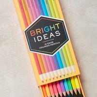 Chronicle Books Bright Ideas Neon Pencils in Assorted Size: Set Of 10 Gifts