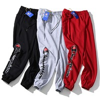 Champion Popular Women Men Leisure Print Drawstring Sport Stretch Pants Trousers Sweatpants I13683-1