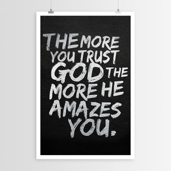 Sara Eshak's The More You Trust God POSTER