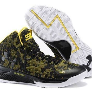 ESBONVX Jacklish Under Armour Ua Curry One (1) Camo Black/taxi