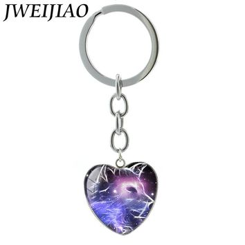 1 pc Silver Plated Animal/ Heart Pendant Keychain 17 Designs