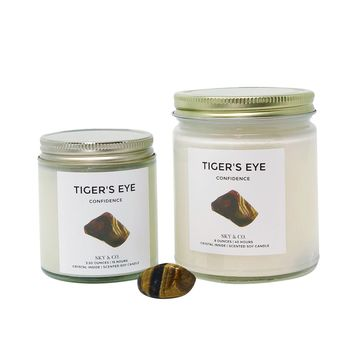 Crystal Infused Candle - Tiger's Eye