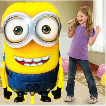92*65cm Large Size Foil Balloon Cartoon Minions Inflatable Ballons Kid Girl Boy Birthday Party Decoration Baloon Wedding Decor