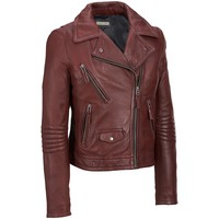 Black Rivet Leather Motorcycle Jacket - View All - Women's & Plus Size - Wilsons Leather