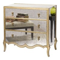 Mirrored Chest of Drawers | Regency French Style Mirrored Dresser
