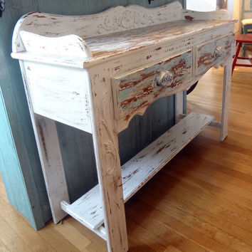 Shabby Chic Rustic Couch Side Table