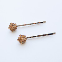 Crystal Cluster Bobby Pins (Pair)
