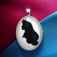 Princess Aurora (Sleeping Beauty) Silhouette Cameo Pendant Necklace