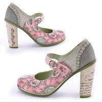 Hot Chocolate Design Chocolaticas High Heels Marie Antoinette Women's Mary Jane Pump Multicoloured US Size: 10