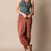 Indian Sunset Stripe Harem Yoga Pants