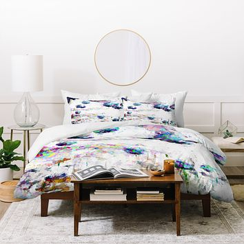 Ginette Fine Art Abstract Allium Magic Duvet Cover