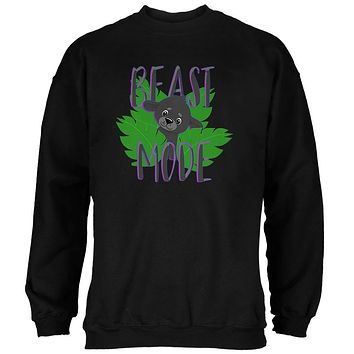 Beast Mode Cute Black Panther Cub Mens Sweatshirt