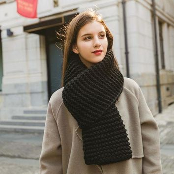 ca PEAPTM4 Winter Knit Couple Scarf [280547098665]