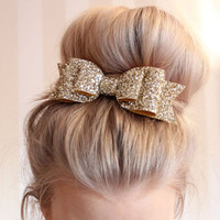 Women Girls Blingbling Sequins Big Bowknot Barrette Hairpin Hairgrips Hair Clips Hair Bow Headwear Accessories