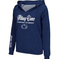 Colosseum Athletics Women's Penn State Nittany Lions Blue Throwback V-Neck Hoodie - Dick's Sporting Goods