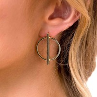 Gold Oblivion Earrings