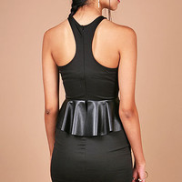 Peplum Racer Dress - Cocktail Dresses at Pinkice.com