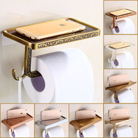 Multi-Choices Luxury Toilet Paper Holder Wall Mount Bathroom Kitchen Roll Paper Tissure Rack