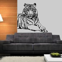 Wall Decal Tiger Vermin Vinyl Sticker Decals Predator Animals Home Decor Bedroom Art Design Interior NS879
