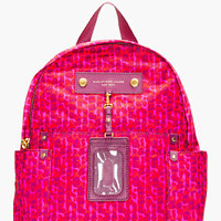 Marc By Marc Jacobs Fuchsia Leopard Print Nylon Preppy Isa Backpack