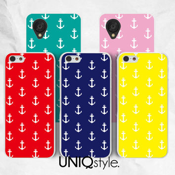 Anchor pattern phone case for iPhone 4/4s, 5/5s, 5c, Samsung s5, s4, s3, note2, note3 - soft case / hard case for iPhone, Samsung - E99