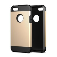 Breett Two-Layer Slim Protective Case for iPhone 5 / 5S - Gold