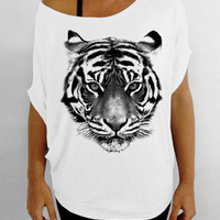 Tiger - Slouchy Tee - White T-shirt
