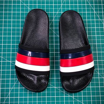 Gucci Leather Slide With Bow Fashion Style 107 - Best Online Sale