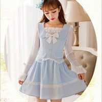 [Candy Fashion] Dolly Bow Sleeve Chiffon Princess Dress SD01011