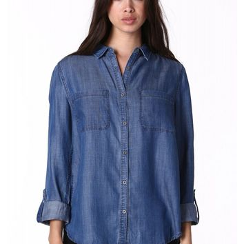 Soho Chambray Buttondown Top