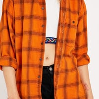 Urban Renewal Vintage Customised - Chemise écossaise en flanelle rouille - Urban Outfitters
