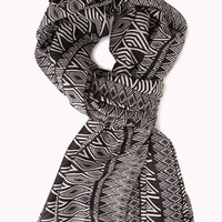 Worldly Geo Print Scarf