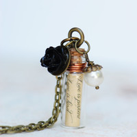 Personalized Message in a Bottle Necklace-Friendship-Bridesmaid Gifts