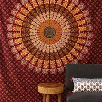 Magical Thinking Center Medallion Tapestry- Purple One