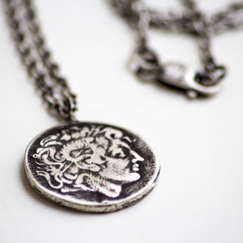 Alexander the Great Coin Pendant-Men's Pendant-Ancient Greek Replica Coin Pendant-Men's Jewelry-Unisex Gifts