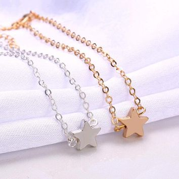 Europe Style Star Pendant Charm Chain Bracelet Couple Bracelets Jewelry Friendship Gifts to Friends Lover