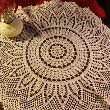 Crochet Tablecloth, Handmade,  Joy Burst     NOW ON SALE