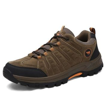 Outdoor Hiking Shoes Walking Men Climbing Shoes Sport Boots Hunting Mountain Shoes Non-slip Breathable