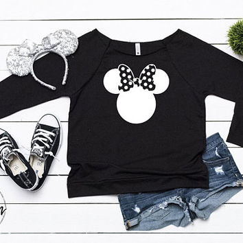 Disney Shirt // Minnie Bowtique Shirt // Minnie Ears // Mickey Ears Silhouette // Disney Sweatshirt, Mickey Mouse Shirt // Disney Head