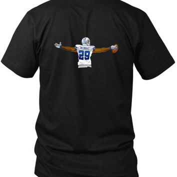 Demarco Murray Ball 2 Sided Black Mens T Shirt