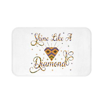 Shine Like A Diamond Velvet Soft Bath Mat Collection