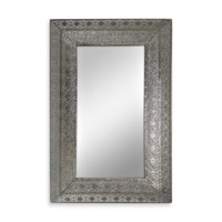 Silver Nickel Metal Lace Mirror